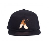 Snapback Hat (Black/Rose Gold)